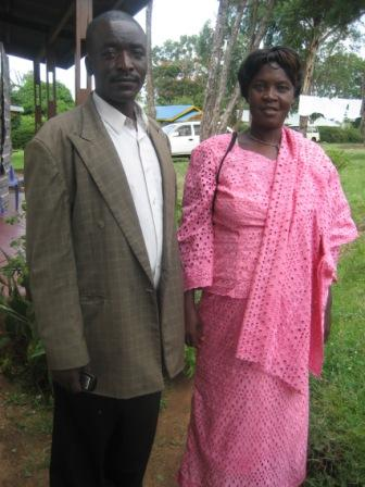 Pastor Protas with his wife